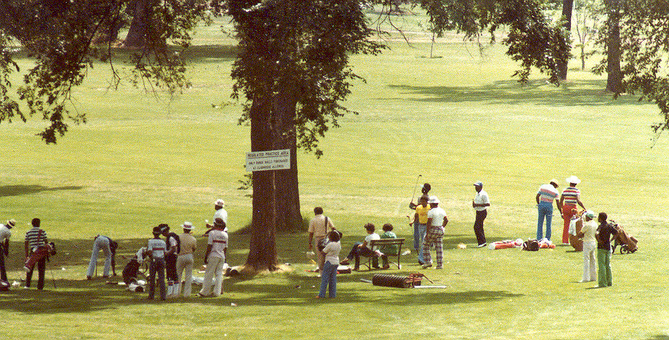 1971 Upper Midwest Bronze Open Golf Tournament - Driving Range - Hiawatha Golf Course