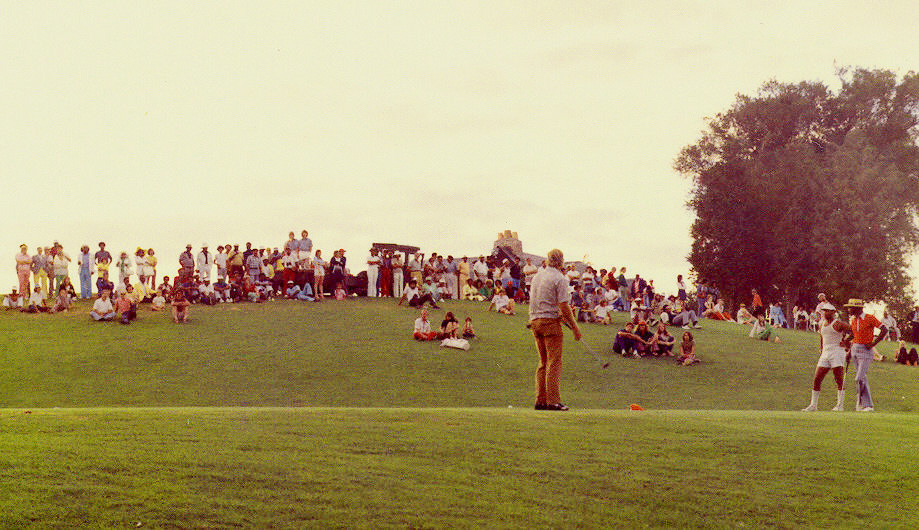 1971 Upper Midwest Bronze Open Golf Tournament - Finish - 18th Green - Hiawatha Golf Course